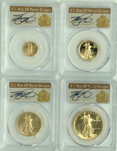 1988 Proof Gold Eagle 4-Coin Set ($5, 10, 25, 50) PR70 PCGS Thomas Cleveland Art Deco