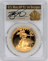 1988-W $50 Proof Gold Eagle Thomas Cleveland Art Deco PR70