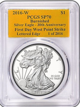 2016 SP70 Burnished First Day West Point 1 of 2016 Lettered Edge 30th Anniversary ASE