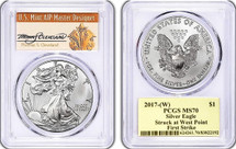 2017-(W) Silver Eagle Thomas Cleveland First Strike MS70 *Population only 150*