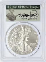 2017-W Burnished Silver Eagle SP70 PCGS 225th Anniv US Mint FDOI Denver Mint T.Cleveland signed