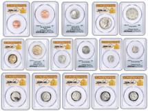 2017-S Enhanced Uncirculated 10 Coin Set SP70 PCGS ANA Denver FDOI Thomas Cleveland