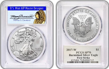 2017-W Burnished ASE SP70 PCGS First Strike Thomas Cleveland Chief Label Pop 150