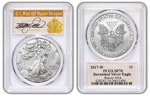 2017-W Burnished ASE SP70 PCGS Denver ANA Thomas Cleveland signed