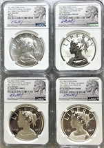 2017 American Liberty Four-Medal Set PF/Rev. PF/SP/MS70 NGC Early Releases R. Jeppson signed label