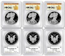2018-W ASE PR70 PCGS FDOI 3-Coin City Set Thomas Cleveland Art Deco label