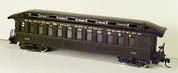HOn3 D&RGW open platform Passenger Car MRGS kit #3311 plastic w/resin roof