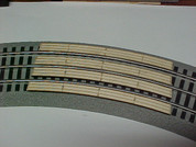 """Railroad Crossing for Lionel O Fastrack 3-rail 36""""curve"""
