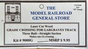 Atlas O 3-rail Railroad Grade Crossing Straight track