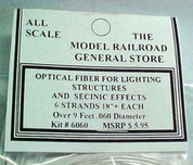 Optic Fiber .060 for Building Lighting Model Scenery