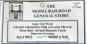 "Atlas O 3-rail 45"" Railroad Crossing for curved sectonal track"