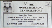 "Atlas O 3-rail 54"" Railroad Crossing for curved sectonal track"