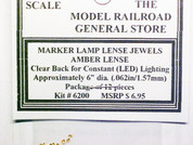 Amber Lense Jewels for Marker Lamps, clear Back, no reflector