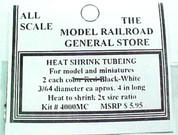 HO HOn3 HOn30 On30 Heat Shrink mini Tubing 3/64 size red/black/white 2ea