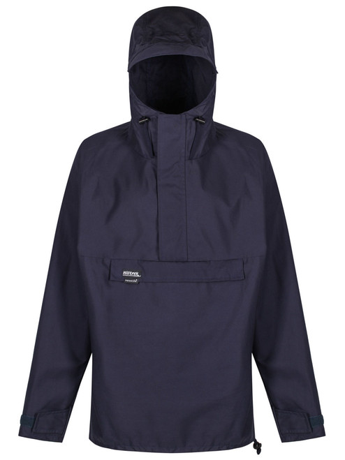 Over the head classic styled smock with a hood, designed for windproof and showerproof use. Colour: Navy