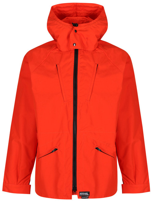 Colour: Blaze Orange. Inspired by the much loved Greenspot Nomad Jacket by Bertram Dudley , the Greenspot is designed for cold weather cycle touring. Shown with optional hood.