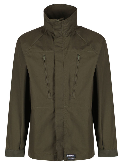 Single Ventile lightweight cycle jacket in L34 Ventile with minimal features to reduce weight and increase breathability,  offering better breathability and shower protection than synthetic windproofs.