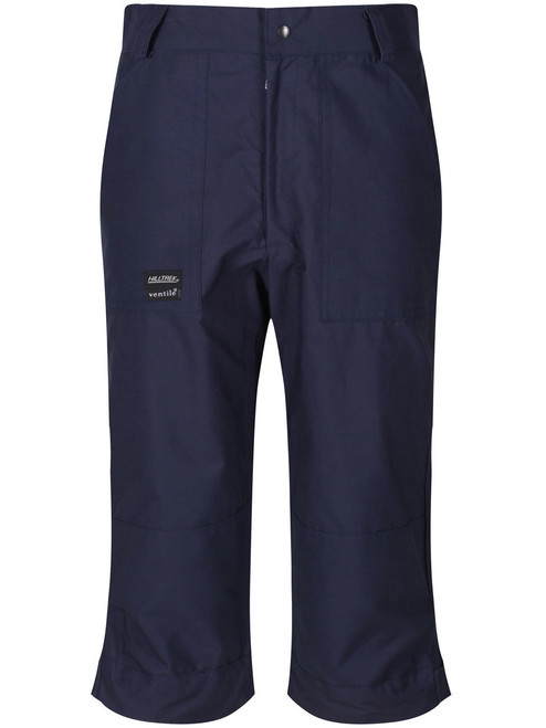 Classically styled below knee length single Ventile® breeches. Windproof and showerproof with protection on the ankle, knees and seat. Colour: Navy.