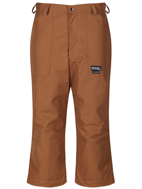 Fully waterproof Cotton Analogy® Breeches comprising a Ventile® outer and Nikwax Analogy® inner. Colour: Cinnamon.