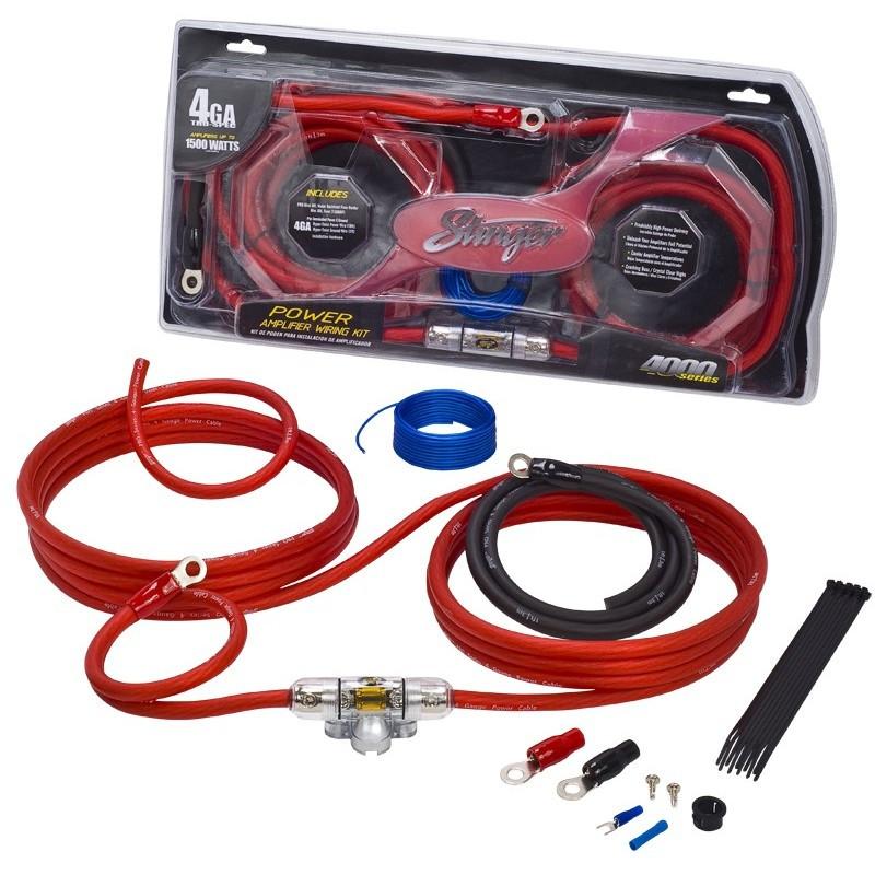 stinger 4000 series 4 awg power wiring kit 20mm2 power only rh audioboffins com 4 gauge wiring kit for amp 4 gauge wiring kit walmart