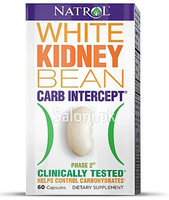 GNC Natrol White Kidney Bean Carb Intercept Phase 2 (60 Capsules)