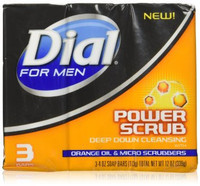 Dial For Men Soap Bar Power Scrub Soap ( 3 Count )