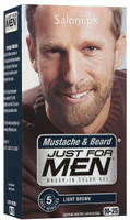 Just For Men Brush-In Color Mustache & Beard Gel Light Brown M-25