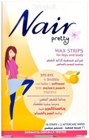 Nair Pretty Wax Strips For Legs and Body 16 Strips + 2 Aftercare Wipes