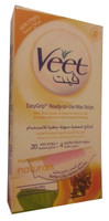Veet Wax Strips Shea butter With Papaya Extract For Normal Skin (Front)