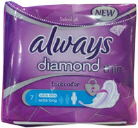 Always Pads Diamond Ultra Thin Extra Long 7