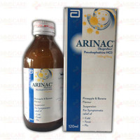 Arinac (Ibuprofen with Pseudoephedrine) Suspension Syrup 120 ML