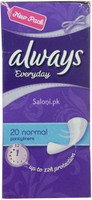 New Always Everyday 20 Normal Pantyliners Pads Front