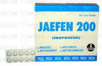 Jaefen (Ibuprofen) 200MG 50x10 Tablets