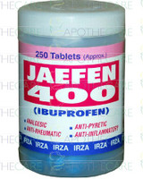 Jaefen (Ibuprofen) 400MG 1x250 Tablets