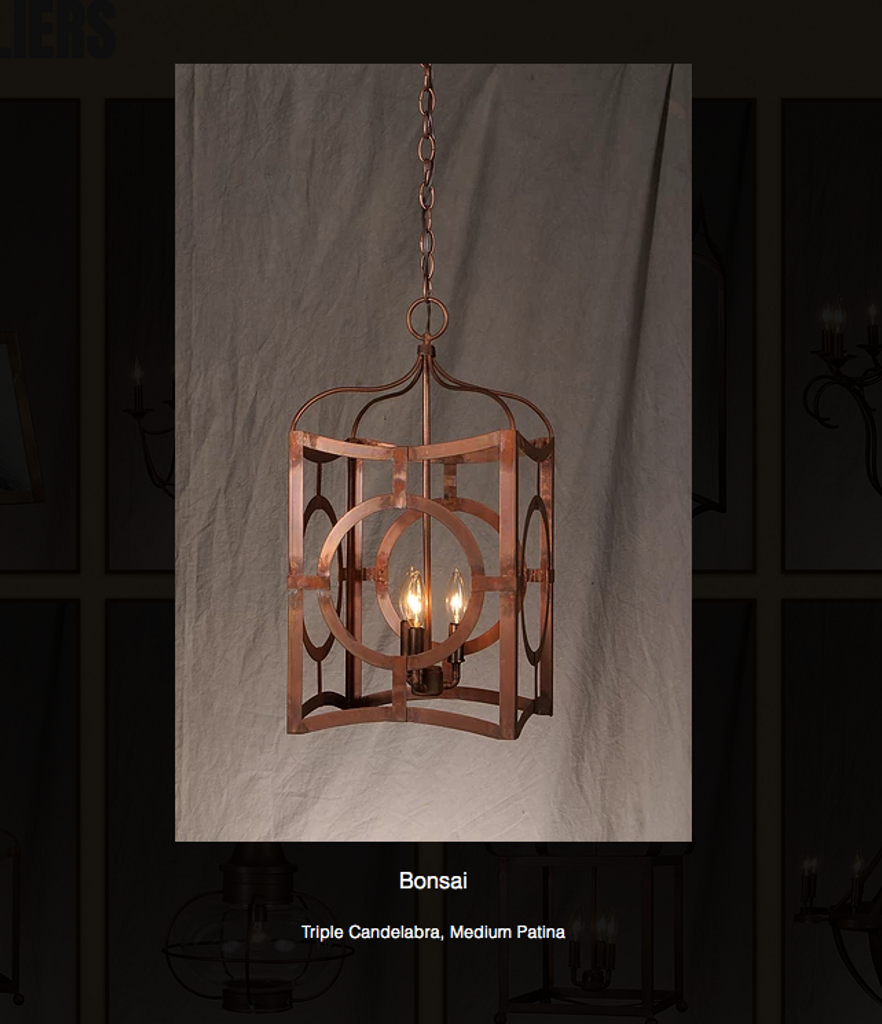 St. James Bonsai Copper Chandelier