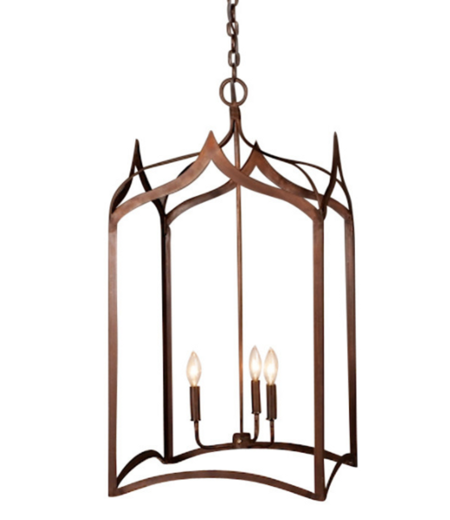 St. James Gothic Cage Copper Chandelier