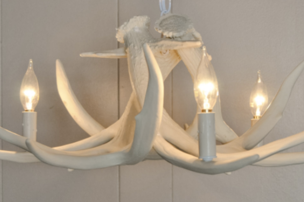 "The Stevens Point Cast Antler Chandelier, 21""Wide by 11""Tall"