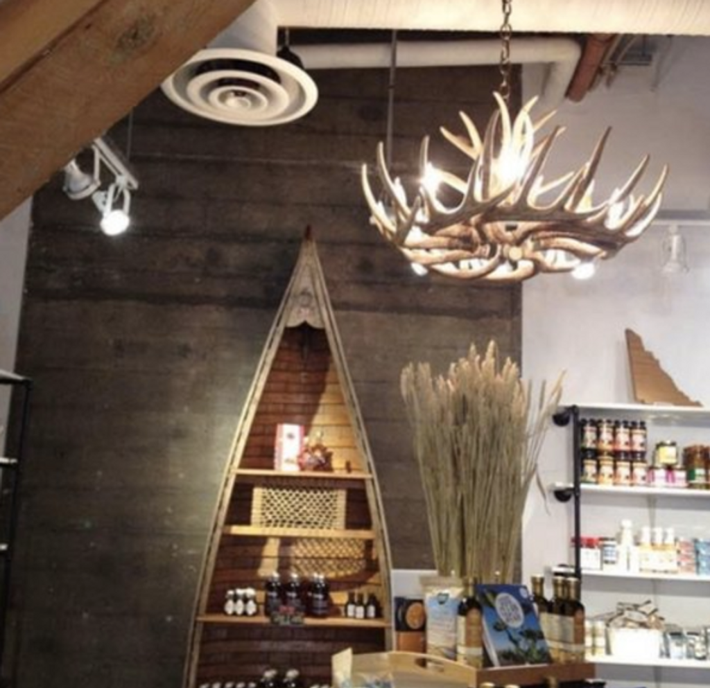 """The Blue Mounds Cast Antler Chandelier, 32""""Wide by 14""""Tall"""