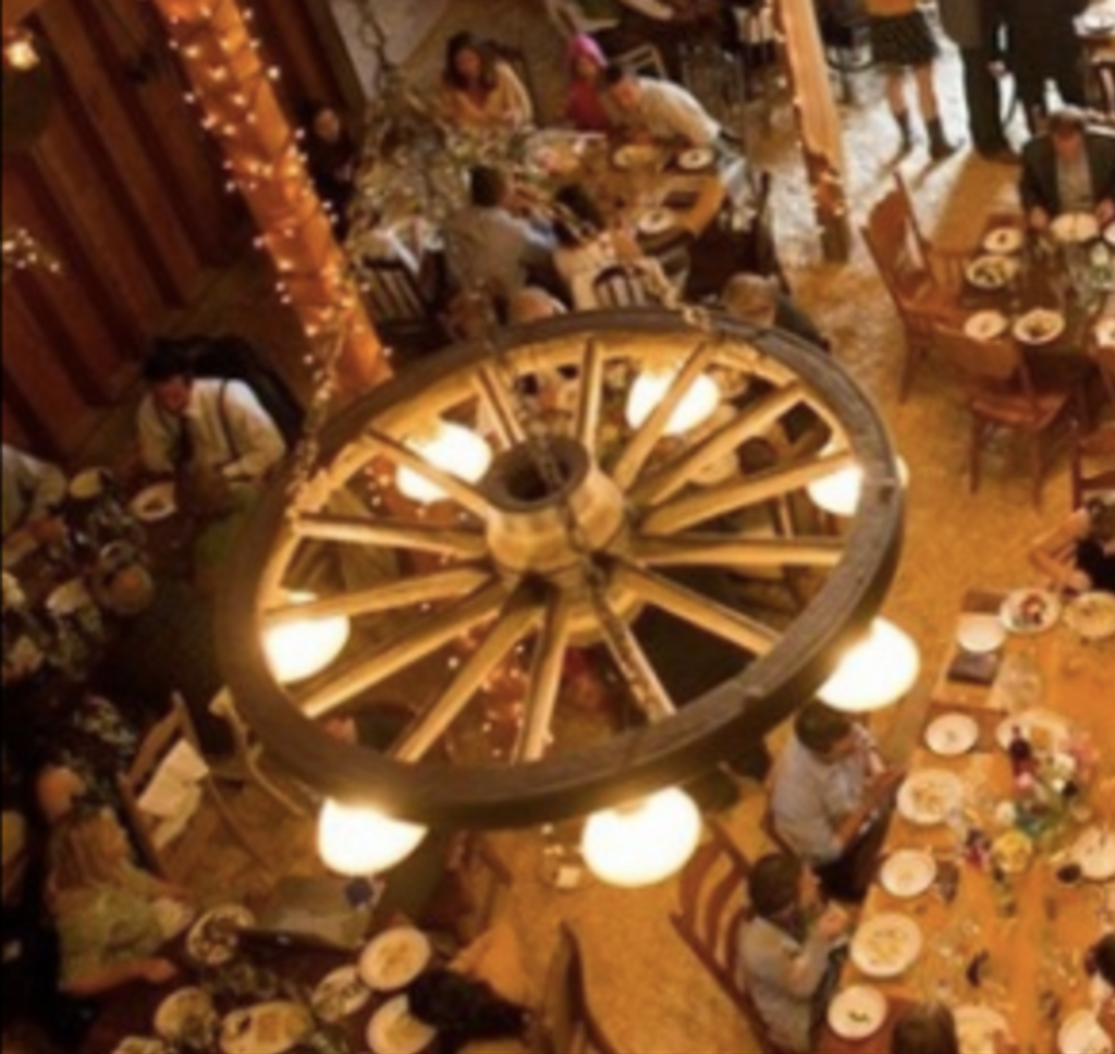"""The Rawhide! Large Wagon Wheel Chandelier, Reproduction,42""""Wide by 12""""Tall"""