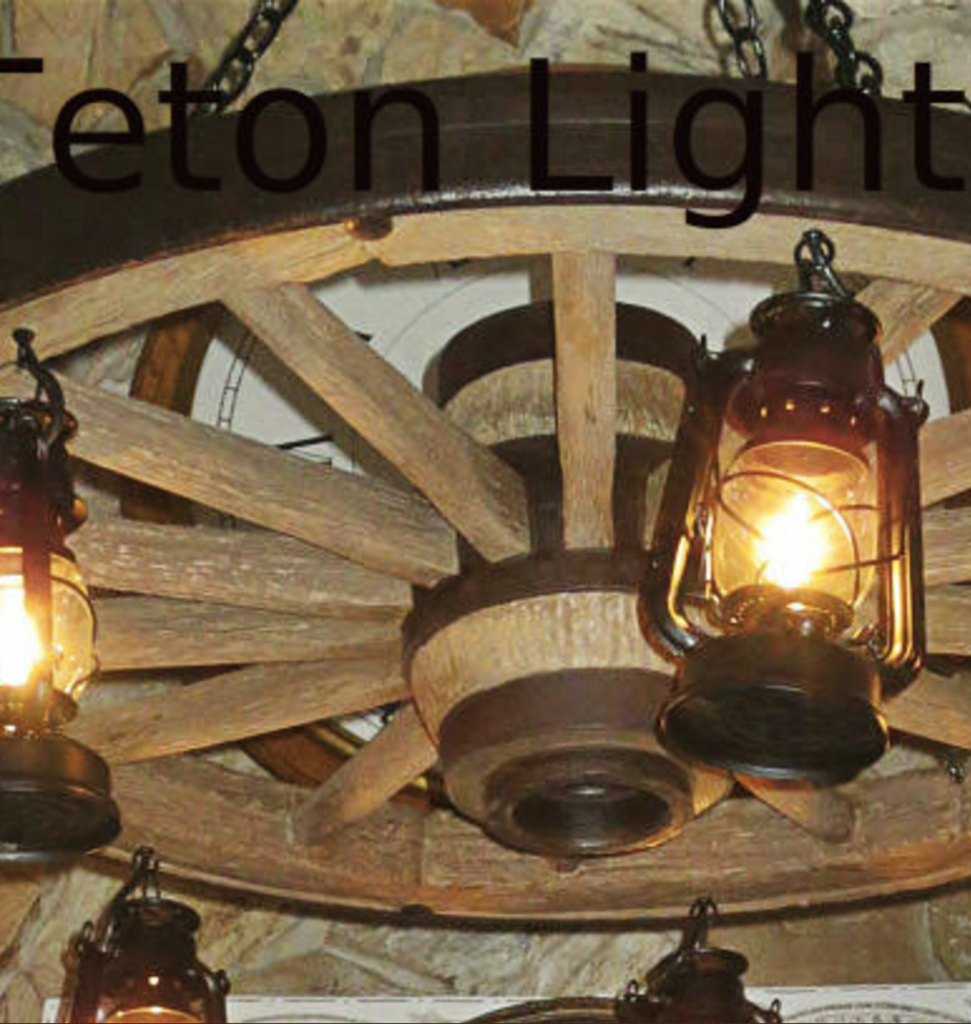 """The Wild West Large Wagon Wheel Chandelier, Reproduction,42"""" Wide by 12""""Tall"""