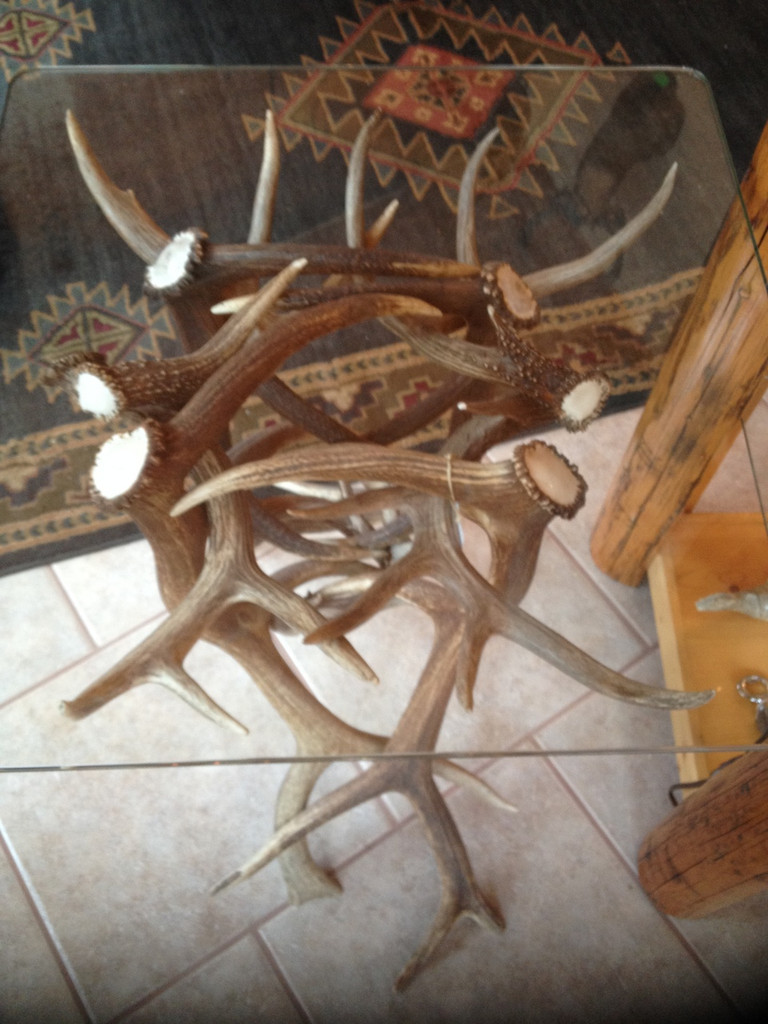 Elk & Deer Antler Table