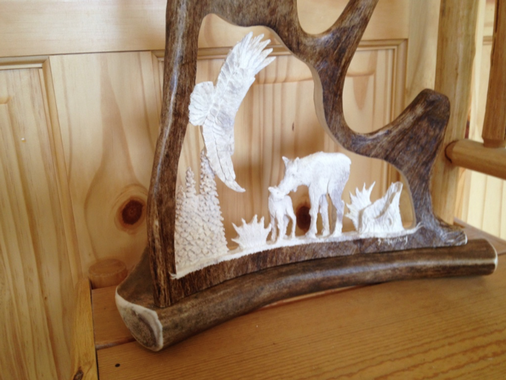 Wild and Free Antler Carving