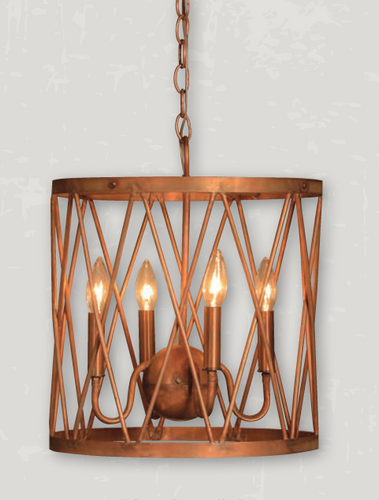 St. James Cypruse Copper Chandelier