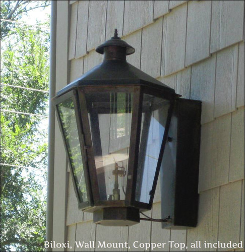 St. James Biloxi Copper Lantern