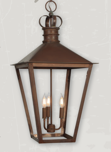 St. James Belgian Pendant Copper Chandelier
