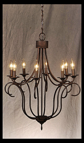 St. James Long Island Copper Chandelier