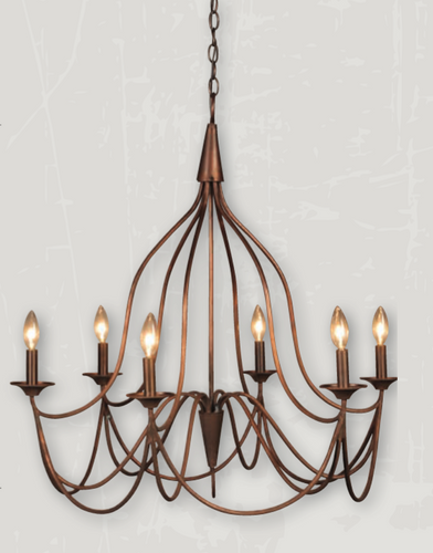St. James Shenandoah Copper Chandelier