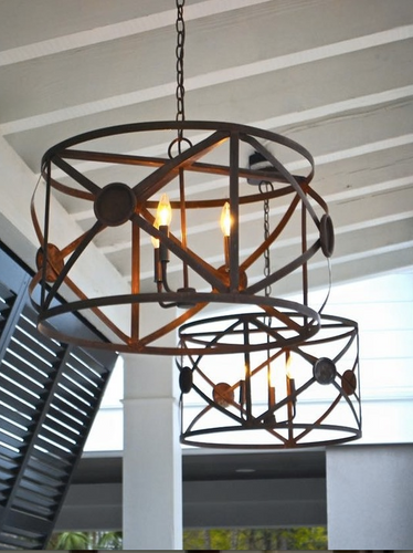 St. James X Drum Copper Chandelier