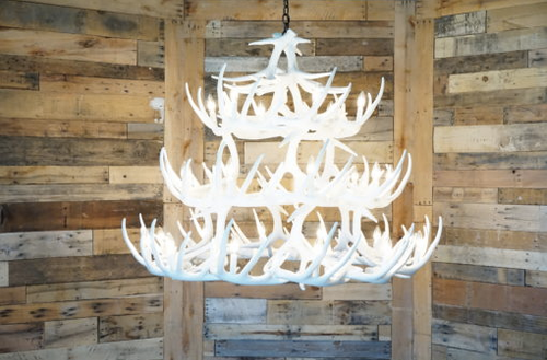 "The Ogema Buck Cast Antler Chandelier,50""Wide by 42""Tall"