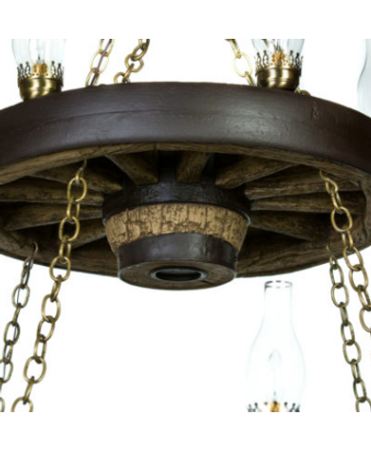 "Wild West Rustic Double Wagon Wheel Chandelier, Reproduction,42""Wide by 40""Tall"